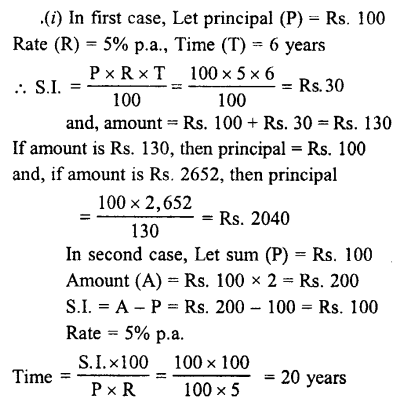 Selina Concise Mathematics class 7 ICSE Solutions - Simple Interest-a13