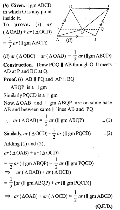 ML Aggarwal Class 9 Solutions for ICSE Maths Chapter 14 Theorems on Area     4b