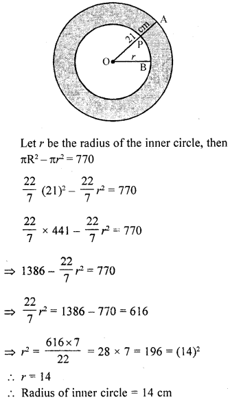 RD Sharma Class 10 Solutions Chapter 13 Areas Related to Circles Ex 13.1 19