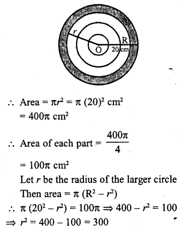 RD Sharma Class 10 Solutions Chapter 13 Areas Related to Circles MCQS -40a