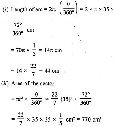 RD Sharma Class 10 Solutions Chapter 13 Areas Related to Circles Ex 13.2 - 11