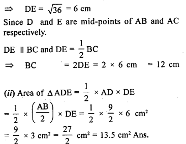 ML Aggarwal Class 9 Solutions for ICSE Maths Chapter 12 Pythagoras Theorem     ch1d