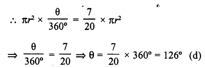 RD Sharma Class 10 Solutions Chapter 13 Areas Related to Circles MCQS -36