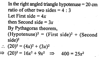 ML Aggarwal Class 9 Solutions for ICSE Maths Chapter 12 Pythagoras Theorem     5