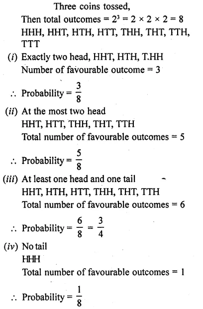 RD Sharma Class 10 Solutions Probability