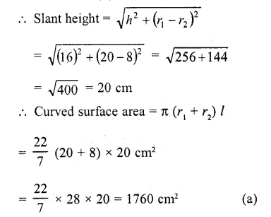 RD Sharma Class 10 Solutions Chapter 14 Surface Areas and Volumes MCQS 38
