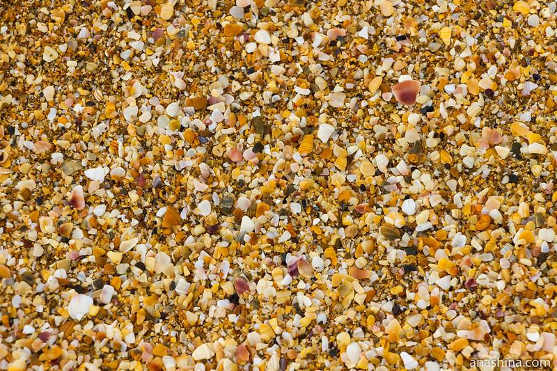 Песок на пляже, Крым