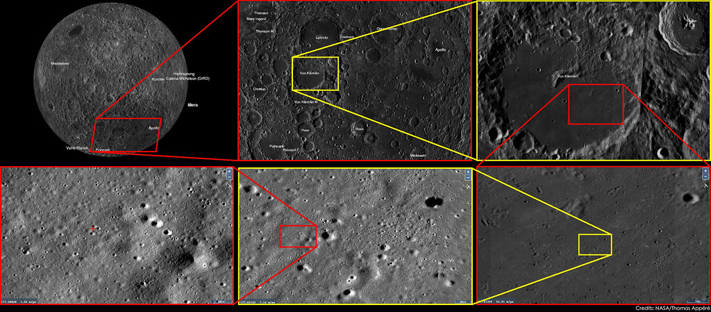 Position of Chang'E 4 landing site