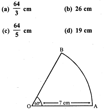 RD Sharma Class 10 Solutions Chapter 13 Areas Related to Circles MCQS -21