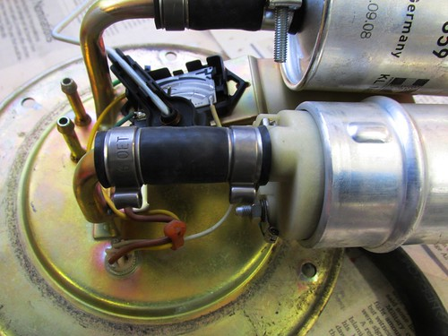 Fuel Pump Outlet Hose with Original Use Once Clamps