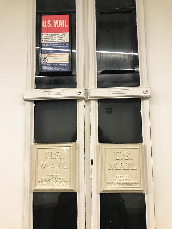 Cutler mail chute at Merchandise Mart