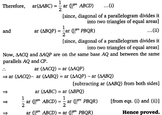 NCERT Solutions for Class 9 Maths Chapter 9 Area of parallelograms and Triangles 23