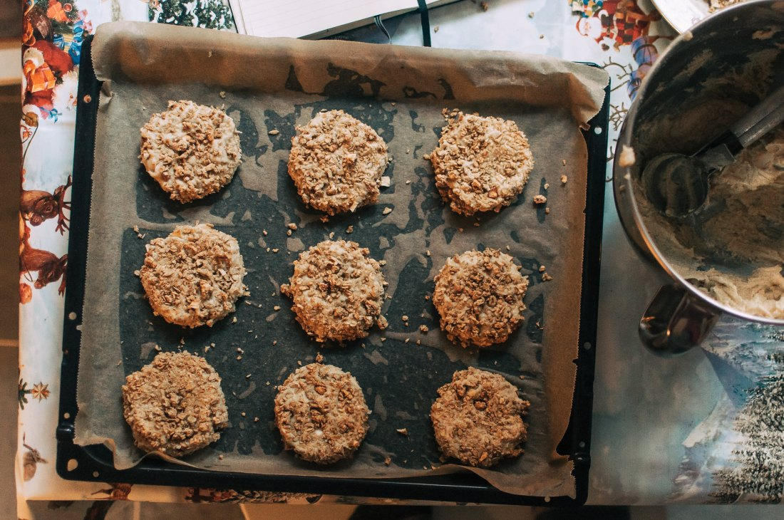 chai masala snickerdoodles with apple spice granola