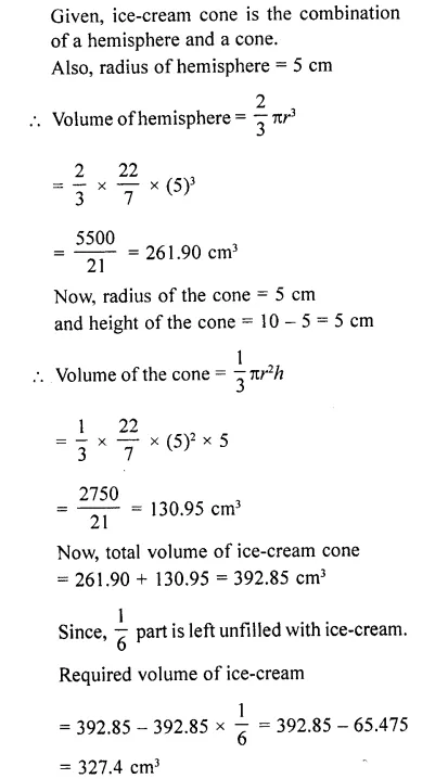 RD Sharma Class 10 Solutions Chapter 14 Surface Areas and Volumes  RV 76a