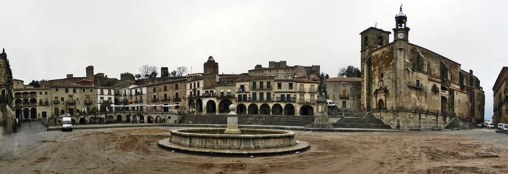 Panorámica Vista Plaza Mayor Trujillo Caceres 02