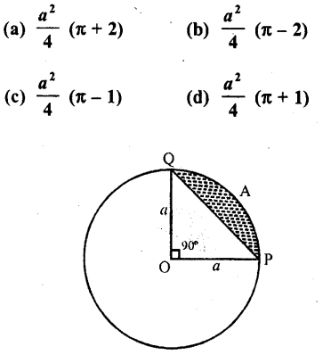 RD Sharma Class 10 Solutions Chapter 13 Areas Related to Circles MCQS -31
