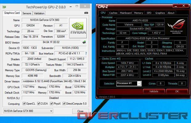 TEchPoweg-GPUZ-CPU-z
