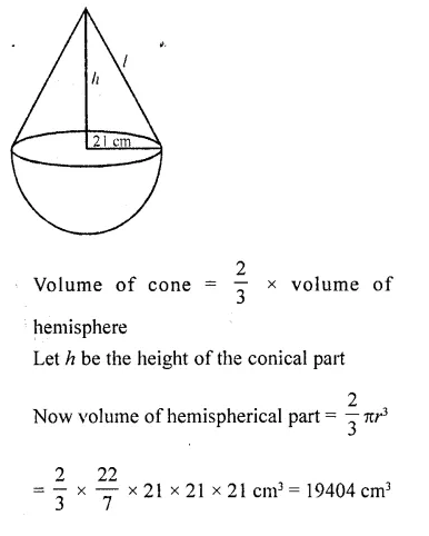 RD Sharma Class 10 Solutions Chapter 14 Surface Areas and Volumes Ex 14.2 26