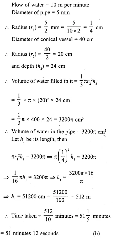 RD Sharma Class 10 Solutions Chapter 14 Surface Areas and Volumes MCQS 14