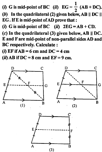 ML Aggarwal Class 9 Solutions for ICSE Maths Chapter 11 Mid Point Theorem    10
