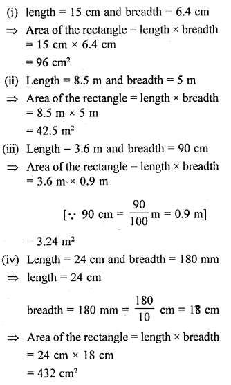 Selina Concise Mathematicsclass 6 ICSE Solutions -Perimeter and Area of Plane Figures-b1