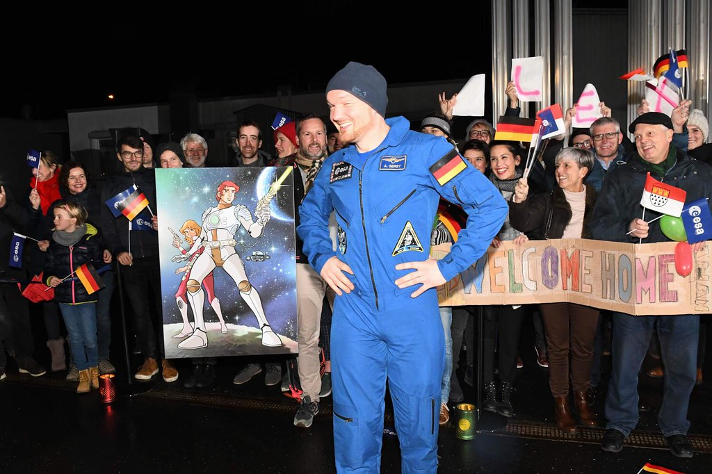 Alexander Gerst arrives at Cologne after second spaceflight