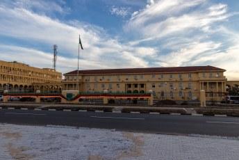 Dit is het kantoor van het kabinet, het hoogste administratieve orgaan in Zambia.