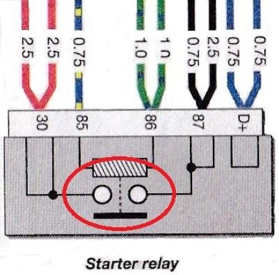 6 Series 1975-76 Starter Relay Internals