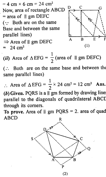 ML Aggarwal Class 9 Solutions for ICSE Maths Chapter 14 Theorems on Area    ct 1b