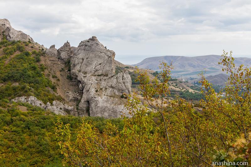Вид в сторону Солнечной Долины, Крым