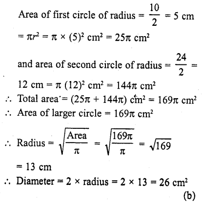 RD Sharma Class 10 Solutions Chapter 13 Areas Related to Circles MCQS -46