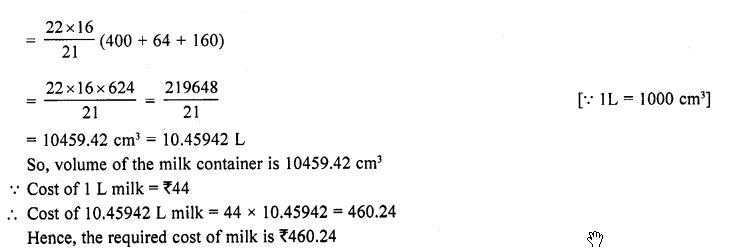 RD Sharma Class 10 Solutions Chapter 14 Surface Areas and Volumes Ex 14.3 10a
