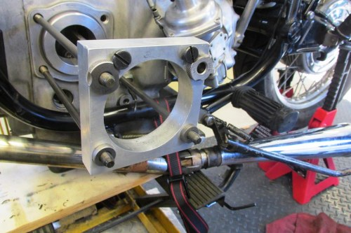 Installing Boring Jig on (3) Remaining Cylinder Studs
