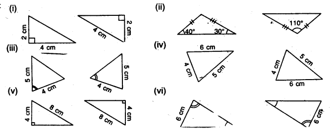 Selina ICSE Class 7 Maths Solutions - Congruency Congruent Triangles-ex1