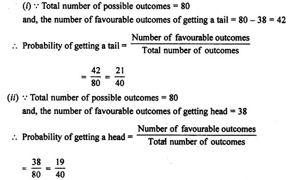 Selina Concise Mathematics class 7 ICSE Solutions - Probability-2