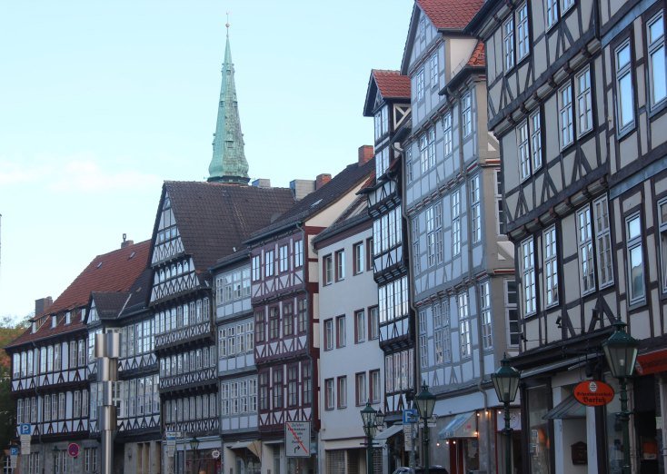 Old city center of Hanover, Germany