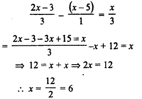 Selina Concise Mathematics class 7 ICSE Solutions - Simple Linear Equations (Including Word Problems) -c27..