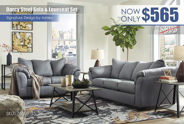 Darcy Steel Sofa & Loveseat Set_75009-38-35-T314
