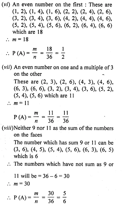 RD Sharma Class 10 Solutions Chapter 16 Probability Ex 16.1 50A