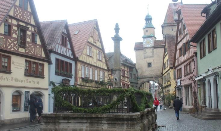 Fountain in Rothenburg ob der Tauber