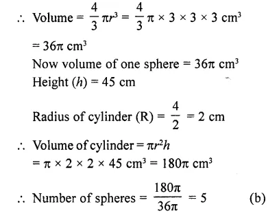 RD Sharma Class 10 Solutions Chapter 14 Surface Areas and Volumes MCQS 44