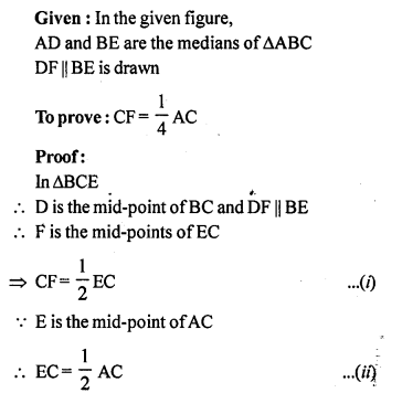 ML Aggarwal Class 9 Solutions for ICSE Maths Chapter 11 Mid Point Theorem    7a