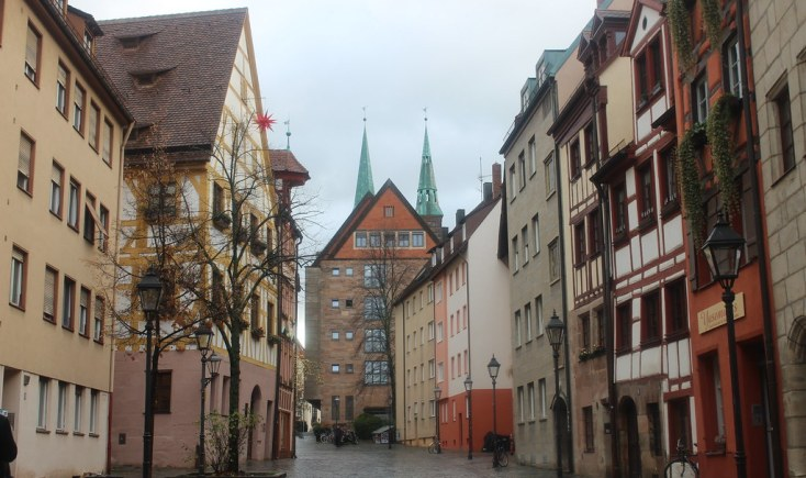 View of Weissbergergasse, Nuremberg, Germany
