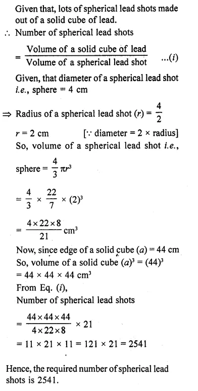 RD Sharma Class 10 Solutions Chapter 14 Surface Areas and Volumes Ex 14.1 11