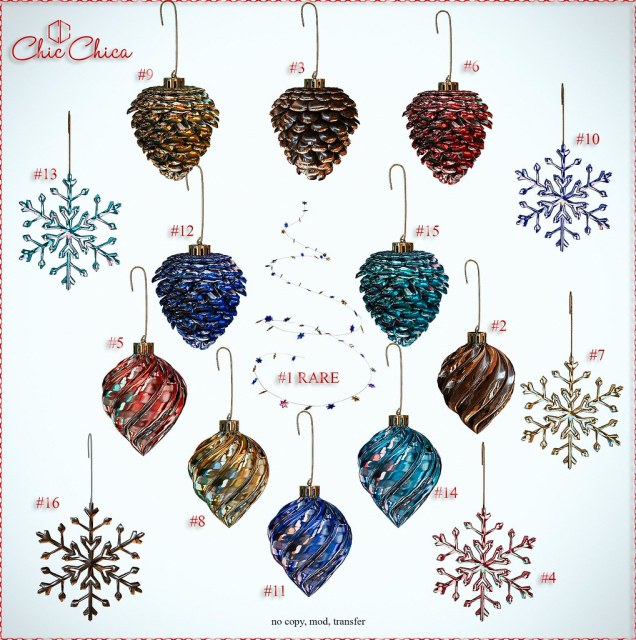 Tree ornament gacha by ChicChica @ Tannenbaum