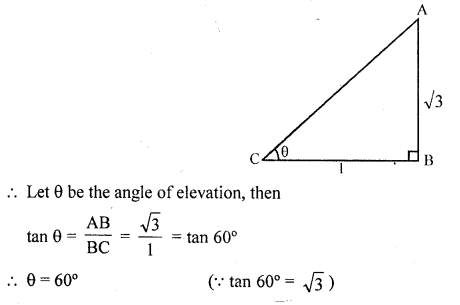 RD Sharma Class 10 Solutions Chapter 12 Heights and Distances VSAQS - 2