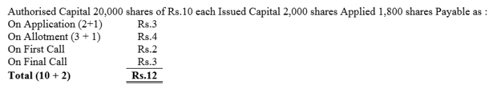 TS Grewal Accountancy Class 12 Solutions Chapter 8 Accounting for Share Capital Q11