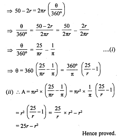 RD Sharma Class 10 Solutions Chapter 13 Areas Related to Circles Ex 13.2 - 27aa
