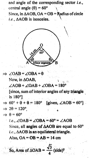 RD Sharma Class 10 Solutions Chapter 13 Areas Related to Circles Ex 13.3 - 6
