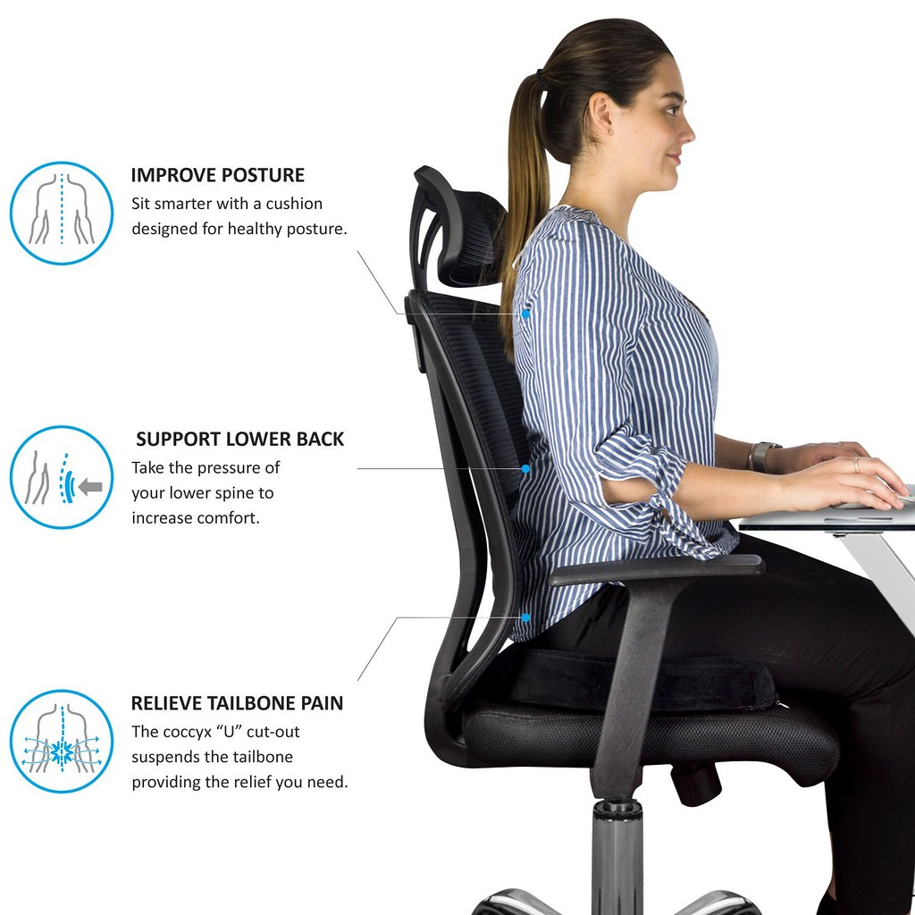 better posture chair metal side an ergonomic office is great for a tailbone pain autonomous